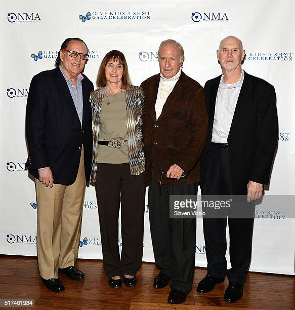 Errol Rappaport Lynn Bozof Paul Hampton and Alan Bozof attend the preshow reception for annual 'Give Kids a Shot Gala Celebration' Broadway's support...