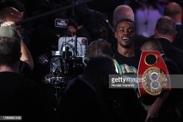 Errol Spence Jr. After a unanimous decision against Danny Garcia during their WBC & IBF World Welterweight Championship fight at AT&T Stadium on...