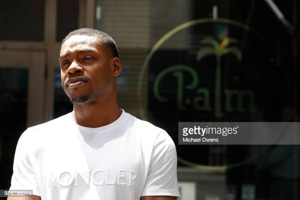 Errol Spence Jr during a media luncheon at The Palm West on June 19 2018 in New York City