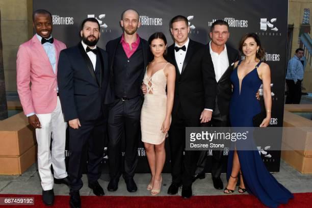 """Errol Webber, David Trevino, Brandon Sean Pearson, Erica Souza, Keith Sutliff, Michael Whelan, and Carlotta Montanari attent the premiere of """"The..."""