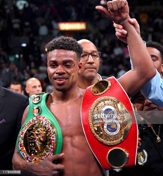 Erroll Spence Jr. In the ring after he defeated Shawn Porter in their IBF & WBC World Welterweight Championship fight at Staples Center on September...