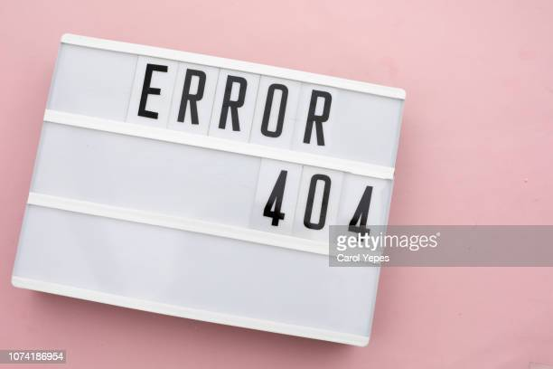 error 404 sign in lighbox - error 404 stock photos and pictures