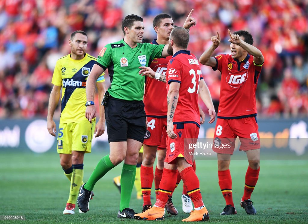A-League Rd 20 - Adelaide v Central Coast