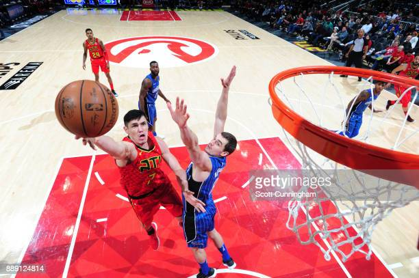 Ersan Ilyasova of the Atlanta Hawks goes for a lay up against the Orlando Magic on December 9 2017 at Philips Arena in Atlanta Georgia NOTE TO USER...