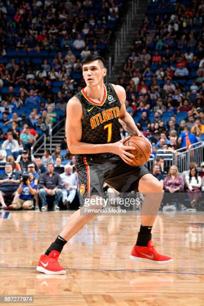 Ersan Ilyasova of the Atlanta Hawks handles the ball against the Orlando Magic on December 6 2017 at Amway Center in Orlando Florida NOTE TO USER...