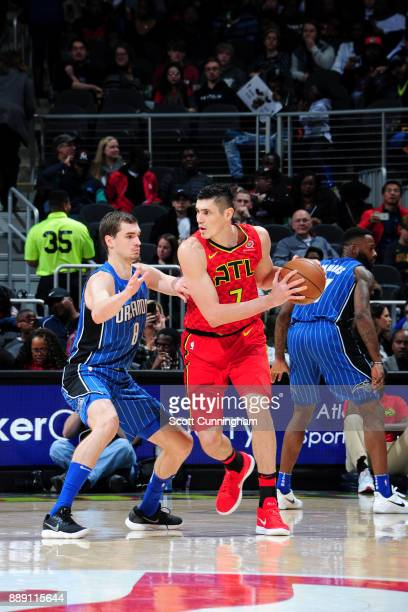 Ersan Ilyasova of the Atlanta Hawks handles the ball against the Orlando Magic on December 9 2017 at Philips Arena in Atlanta Georgia NOTE TO USER...