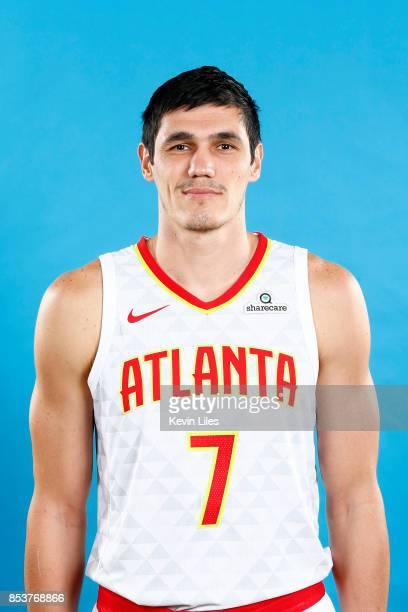 Ersan Ilyasova of the Atlanta Hawks poses for a head shot during Media Day on September 25 2017 at Four Season Hotel in Atlanta Georgia NOTE TO USER...