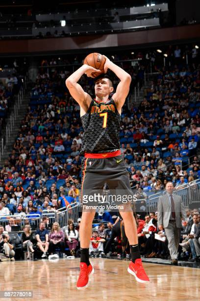 Ersan Ilyasova of the Atlanta Hawks shoots the ball against the Orlando Magic on December 6 2017 at Amway Center in Orlando Florida NOTE TO USER User...