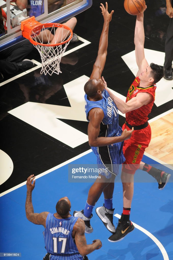 Ersan Ilyasova #7 of the Atlanta Hawks shoots the ball against the Orlando Magic on February 8, 2018 at Amway Center in Orlando, Florida.