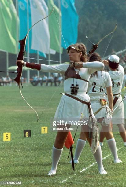 Erstmals seit 1920 streiten die Bogenschützen bei den Olympischen Sommerspielen in München 1972 wieder um olympische Medaillen Im Englischen Garten...