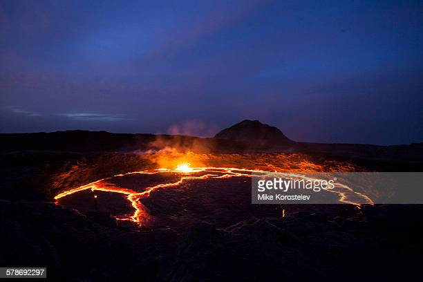 erta ale active volcano - mia magma stock-fotos und bilder