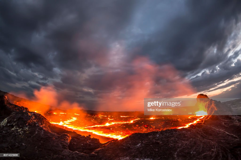 Erta Ale Lava lake : Stock Photo