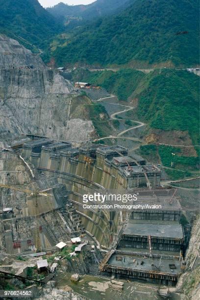 Ertan Double curved concrete arch dam Upper Yangtse River Szechuan Province China