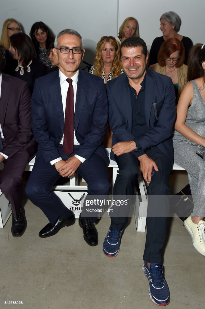 Ertan Yalcin and Cuneyt Ozdemir attend Hakan Akkaya fashion show during New York Fashion Week: The Shows at Gallery 2, Skylight Clarkson Sq on September 11, 2017 in New York City.