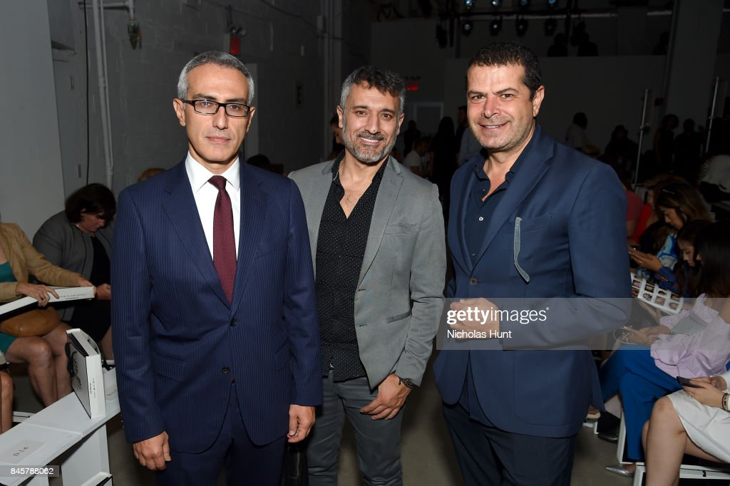 Ertan Yalcin, Selman Yalcin and Cuneyt Ozdemir attend Hakan Akkaya fashion show during New York Fashion Week: The Shows at Gallery 2, Skylight Clarkson Sq on September 11, 2017 in New York City.