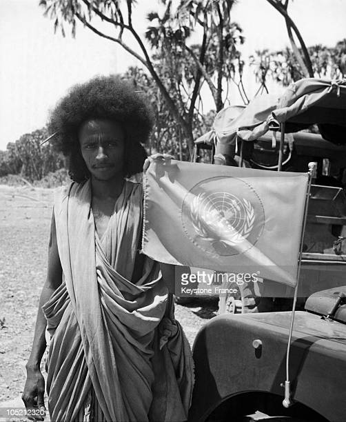 Erthrean Waving The UN Flag In 1952 After The Proposal By The Un For The Creation Of A Federation Of Ethiopia And Eritrea Giving A Status Of...