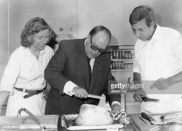 Ertl Josef Politician Germany FDP Minister of Agriculture Ertl with Angelika Jahr and Rudolf Steinert published in 1980