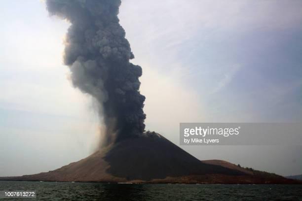 Erupting Anak Krakatau eruption column