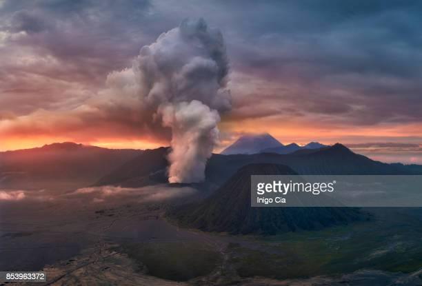 Erupting Volcano, Mount Bromo