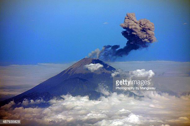 erupting volcano - mt semeru stock pictures, royalty-free photos & images