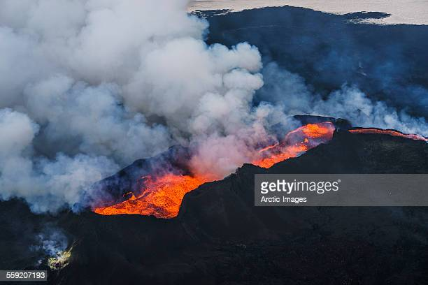 eruption, holuhraun, bardarbunga volcano, iceland. - lava stock photos and pictures