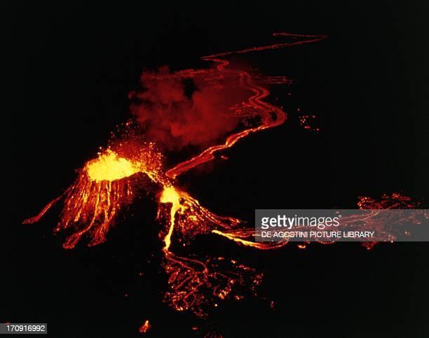 Eruption of Kilauea Volcano, Hawaii Volcanoes National Park , Island of Hawaii, Hawaii, United States of America.