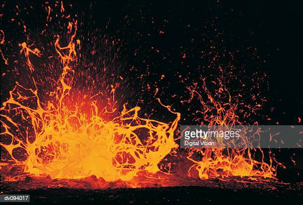 eruption of lava - lava stock pictures, royalty-free photos & images