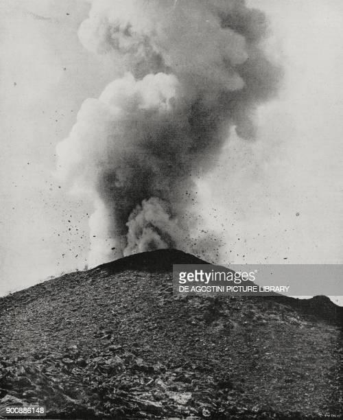 Eruption of Mount Vesuvius, Campania, Italy, from L'Illustrazione Italiana, Year XLIX, No 28, July 9, 1922.