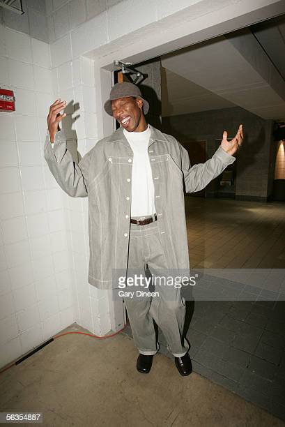 Ervin Johnson of the Milwaukee Bucks enters the Bradley Center before the game against the Los Angeles Lakers on December 6, 2005 at the Bradley...