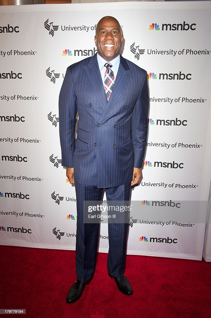 Ervin 'Magic' Johnson attends the 'Advancing The Dream' Live at The Apollo Theater on September 6, 2013 in New York City.