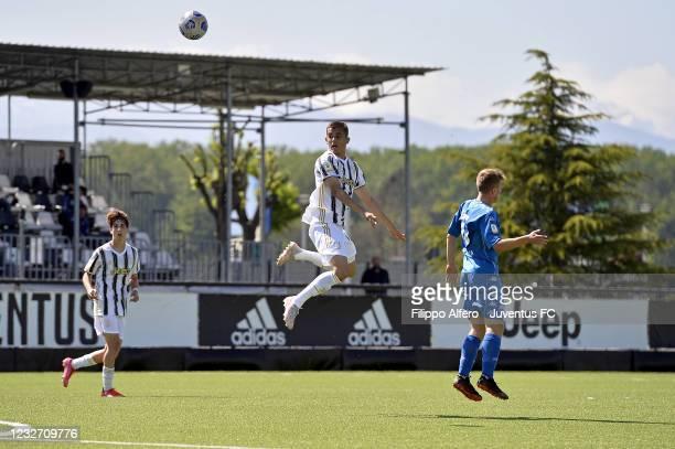 Ervin Omic of Juventus during the Primavera 1 TIM match between Juventus U19 and Empoli FC U19 at Juventus Center Vinovo on May 05, 2021 in Vinovo,...