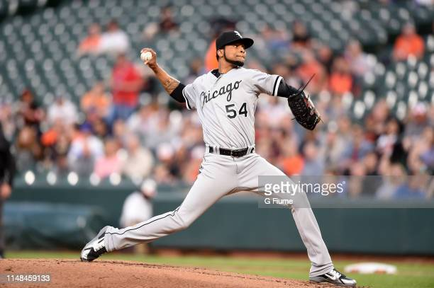 Ervin Santana of the Chicago White Sox pitches against the Baltimore Orioles at Oriole Park at Camden Yards on April 24 2019 in Baltimore Maryland