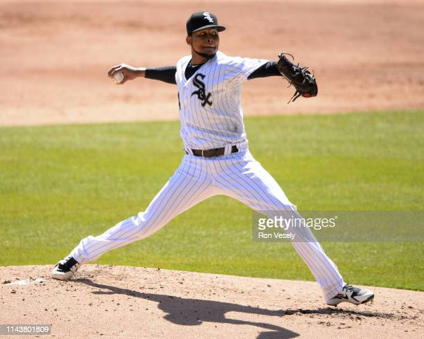 Ervin Santana of the Chicago White Sox pitches against the Tampa Bay Rays on April 9 2019 at Guaranteed Rate Field in Chicago Illinois