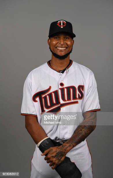 Ervin Santana of the Minnesota Twins poses during Photo Day on Wednesday February 21 2018 at CenturyLink Sports Complex in Fort Myers Florida
