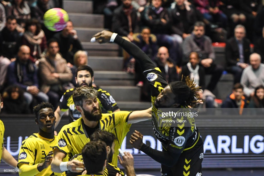 Erwan Siakam of Tremblay during the Lidl Starligue match between Tremblay and Chambery on February 21, 2018 in Tremblay-en-France, France.