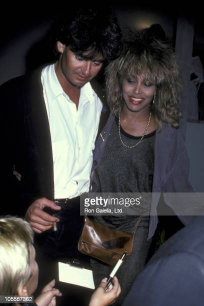 Erwin Bach and Tina Turner during Tina Turner at Spago's Restaurant in Hollywood California August 13 1985 at Spago's in Hollywood California United...