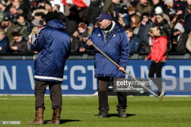Erwin Beltman greenkeeper of Feyenoord during the Dutch Eredivisie match between Feyenoord v PSV at the Stadium Feijenoord on February 25 2018 in...