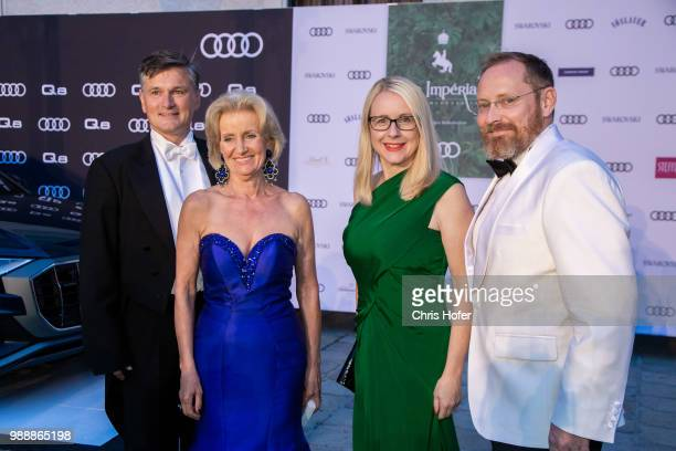 Erwin Klissenbauer, Elisabeth Guertler, Federal Minister Margarete Ramboeck and her husband during the Fete Imperiale 2018 on June 29, 2018 in...