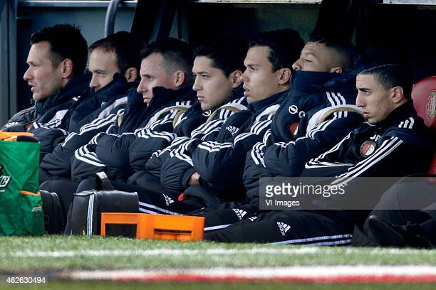 Erwin Mulder of Feyenoord Joris Mathijsen of Feyenoord Luke Wilkshire of Feyenoord Anass Achahbar of Feyenoord Mitchell Te Vrede of Feyenoord Tonny...