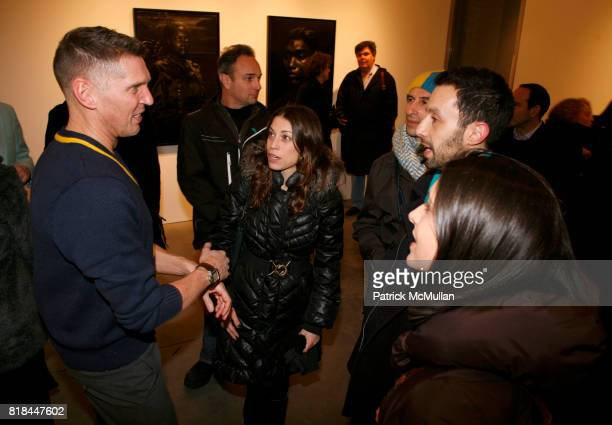 Erwin Olaf and guests attend ERWIN OLAF Opening Reception at Hasted Hunt Kraeutler on January 28 2010 in New York