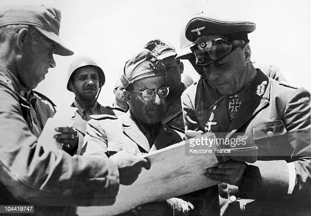 Erwin Rommel Afrika Korps Commander Speaking With The Italian Armed Forces And General Calvi Di Bergolo In Order To Establish A Plan Of Attack On The...