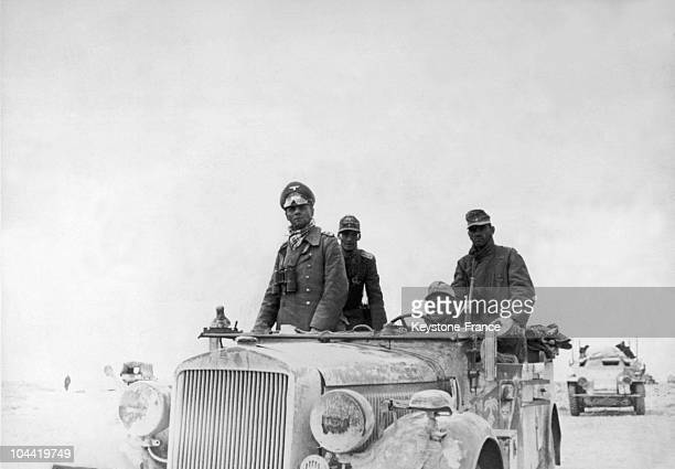 Erwin Rommel The 'Desert Fox' Inspecting The Armoured German Units Of North Africa During Their Progression Towards El Alamein In 1941 He Was Named...