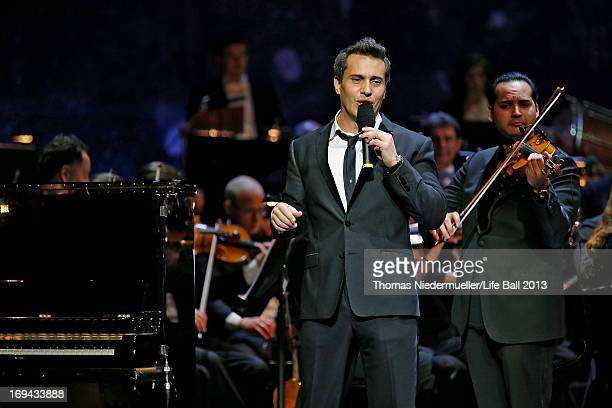 Erwin Schrott performs at the 'Red Ribbon Celebration Concert United in Difference' at Burgtheater on May 24 2013 in Vienna Austria