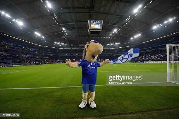 Erwin the mascot for Schalke 04 in The Veltins Arena the home stadium of FC Schalke 04