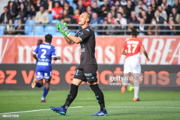 Erwin Zelazny of Troyes during the Ligue 1 match between Troyes AC and AS Monaco at Stade de l'Aube on May 19 2018 in Troyes