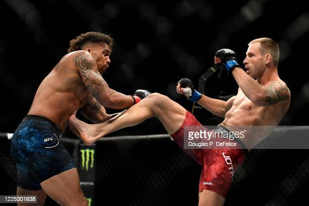 Eryk Anders of the United States fights Krzysztof Jotko of Poland in their Middleweight bout during UFC Fight Night at VyStar Veterans Memorial Arena...