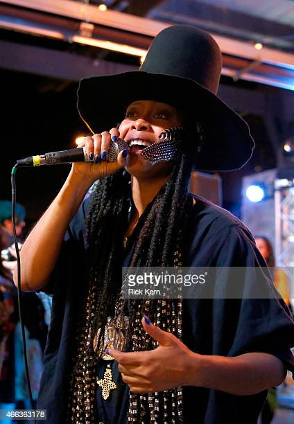 Erykah Badu aka DJ Lo Down Loretta Brown performs at the Everyday People Party featuring Chef Roblé at the Samsung Studio during SXSW 2015 on March...