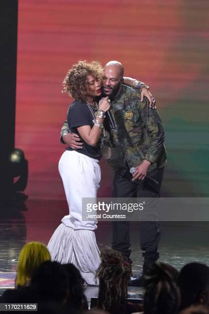 Erykah Badu and Common perform onstage at Black Girls Rock 2019 Hosted By Niecy Nash at NJPAC on August 25, 2019 in Newark, New Jersey.