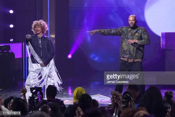 Erykah Badu and Common perform onstage at Black Girls Rock 2019 Hosted By Niecy Nash at NJPAC on August 25 2019 in Newark New Jersey
