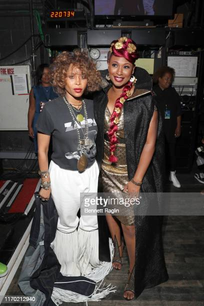 Erykah Badu and Mumu Fresh attend Black Girls Rock 2019 Hosted By Niecy Nash at NJPAC on August 25 2019 in Newark New Jersey